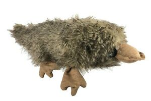 "Plush Platypus Stuffed Animal Toy Faux Fur 20"" Long CUTE Home Made Button Eyes"
