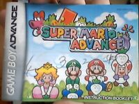 super mario advance manual, normal ware check piictures below for details