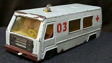 VINTAGE AMBULANCE VAN CAR TRUCK METAL TIN TOY BATT. OPERATED RUSSIAN RED CROSS