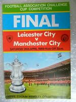1969 FA Cup FINAL Programme LEICESTER CITY v MANCHESTER CITY 26th April Original
