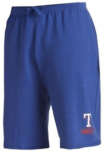 Texas Rangers MLB Mens Majestic Cotton Shorts Royal Blue Big & Tall Sizes