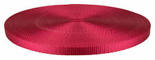 3/8 Inch Red Heavy Plus Nylon Webbing Closeout, 10 Yards