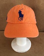 Big & Tall Pony cap Ralph Lauren Polo ball baseball Hat orange blue rugby men