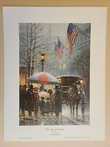 """1989 G. Harvey Hand Signed """"The Street Vendor"""" Limited Edition Print 128/1000"""