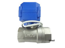 "misol /  10x motorized ball valve G1"" DN25 2 way 12VDC CR04,Stainless steel"