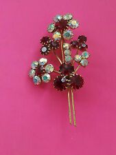 Rhinestone Vintage Costume Brooches/Pins (1960s)