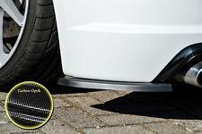 Heckansatz Spoilerecken Seitenteile aus ABS für Audi TTS 8S in Carbon Optik