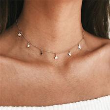 UK BOHO STAR CHARM CHAIN CHOKER NECKLACE Silver Gold Jewellery Gift Idea