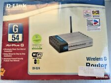 """D-LINK DI-524 WIRELESS AIRPLUS G  ROUTER 4-PORT 54Mbps  CABLE/DSL """"NEW IN BOX"""""""