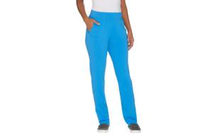 Denim & Co. Active Regular Knit Pants with Mesh Trim Blue XXS A301091 QVC J