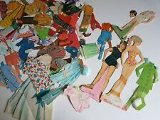 Mixed Lot Unmatching Dolls and Clothing Paper Doll Set Vintage Lot