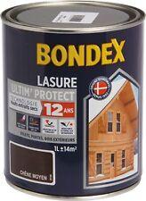 Lasure de finition Ultim Protect 12 ans Bondex - Chêne moyen - Bidon 1 l