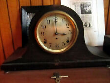 Antique Seth Thomas Mantle Clock Runs And Chimes WITH KEY!