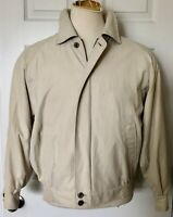 Burberry Men's Size Small Large Lightweight Full Zip Jacket Beige Reg $450