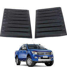 12+ FIT FORD RANGER T6 MATTE BLACK BONNET VENT COVER HOOD SCOOP ABS 3M TYPE.