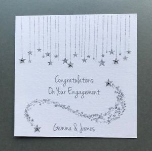 Personalised Handmade Engagement Card