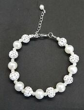 Beautiful imitation pearl and bead bracelet wedding gift