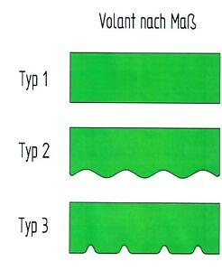 Markisenvolant (0,5m) zum Wechseln nach ihren Maßen und Wünschen