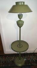 Toleware French green metal floor lamp [D182]