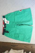 "The Original Ricky Rothchild Green Bermuda Shorts 12"" inseam Size 34 Blue Belt"