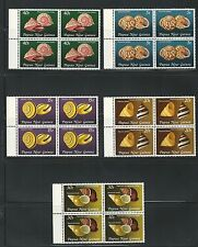 Papua New Guinea: Scott 549-553 mint, never hinged in block of 4.PP02