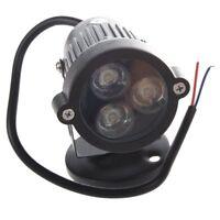 3W 220V LED luz de cesped luz del jardin lampara foco al aire libre Blanco D4R5