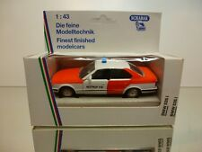 SCHABAK BMW 535i E34 NOTRUF 112 - WHITE + ORANGE 1:43 - VERY GOOD IN BOX