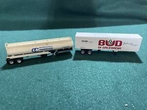 CC Transportstion oil tanker Bud of California tractor trailer HO scale layout