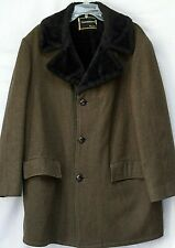 Vintage Penneys Towncraft Brown Wool Coat Lined Size 44 Large
