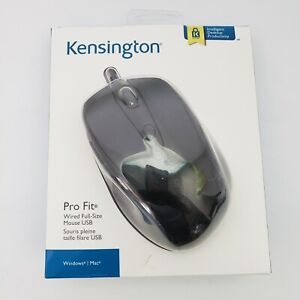 Kensington 72369 Pro Fit Wired Mouse USB - Black