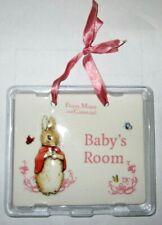 Peter Rabbit Beatrix Potter Ceramic Door Plaque Featuring Flopsy Girl New in Box