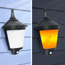 Solar Outdoor Lights Flame Garden Light Flickering Wall Lamp PIR Motion Sensor