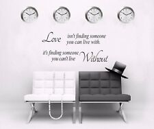 LOVE ISNT FINDING Letter Wall Mural Decal Decor Sticker DIY Removable Art UK