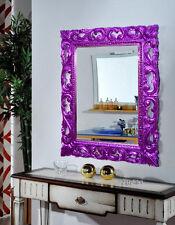 specchio barocco foglia argento viola new in promozione