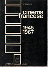 Alfonso Canziani CINEMA FRANCESE 1945-1967 Marzorati 1968