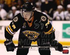 Carl Soderberg Boston Bruins Signed Upclose Action Alternate Jersey 8x10