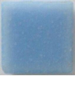 Powder Blue Vitreous Glass Mosaic Tiles - 25 Tiles  - 3/4 inch