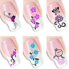 Beautiful 3D design nail art decal sheet 48 designs art sticker for your nails