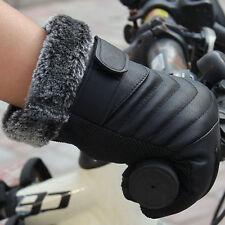 Men Winter Leather Anti Slip Thermal Sports Bike Moto Warm Touch Screen Gloves