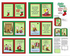 PEANUT CHARLIE BROWN CHRISTMAS STOCKING STORY COTTON FABRIC CRAFT SOFTBOOK PANEL