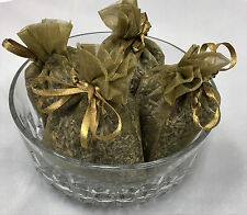 Set of 4 Lavender Sachets made with Brass Organza Bags