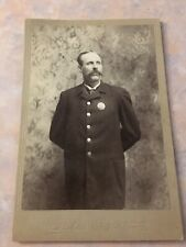 Cabinet Card EastHampton Mass Cop Police Officer 1890s Id'd Charles Butterfield