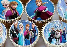 DISNEY congelato wafer commestibile carta di riso festa di Compleanno Cupcake Cake Topper x 30