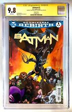 BATMAN #1 CGC SS 9.8 SIGNED TOM KING + DAVID FINCH VARIANT DC UNIVERSE REBIRTH