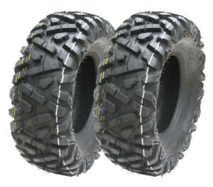 2 - 26x9.00-12 ATV tyres 6ply 7psi 26 9 12 E marked road legal quad tyres