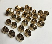 28 QUEBEC POLICE GOLD GILT CANADIAN POLICE BUTTONS GAUNT LONDON MIXED SIZES