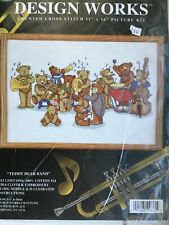 Design Works Counted Cross Stitch Teddy Bear Band