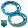 "2pc 6' Braided Airbrush Air Hose 1/8"" to 1/8"" BSP Adaptor Fits Most Brands"
