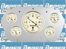 59-60 Dodge Truck Auto Meter Antique Beige Gauges 1959-1960