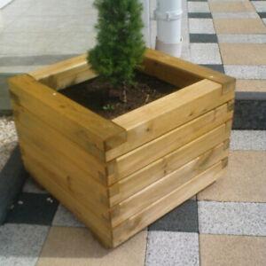 Pflanzkasten 50x50x40cm Typ Robi aus Holz Blumenkasten Blumentrog Pflanztrog NEU